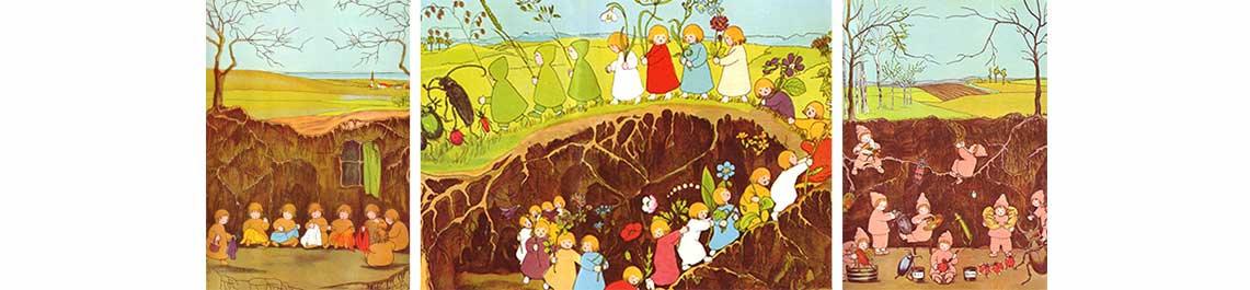 Regenbogenkinder oder unsere Wurzelkinder - Sie erhalten eine kostenfreie Grabstelle bei uns im Wald